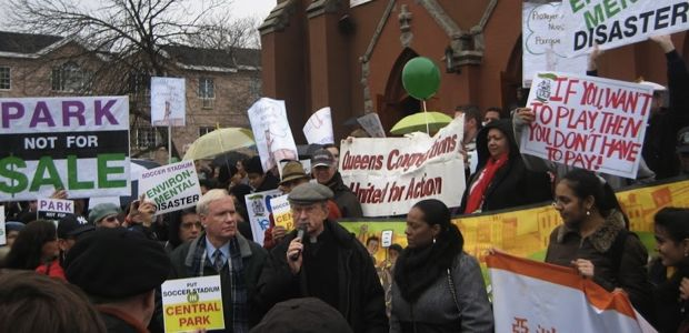 Queens Residents, Elected Officials Protest Plan to Decimate Flushing Meadows-Corona Park