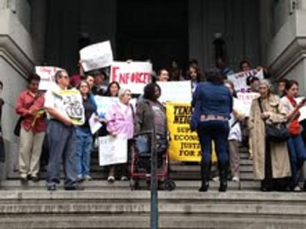 AAFE Rallies For Stronger Rent Law Enforcement