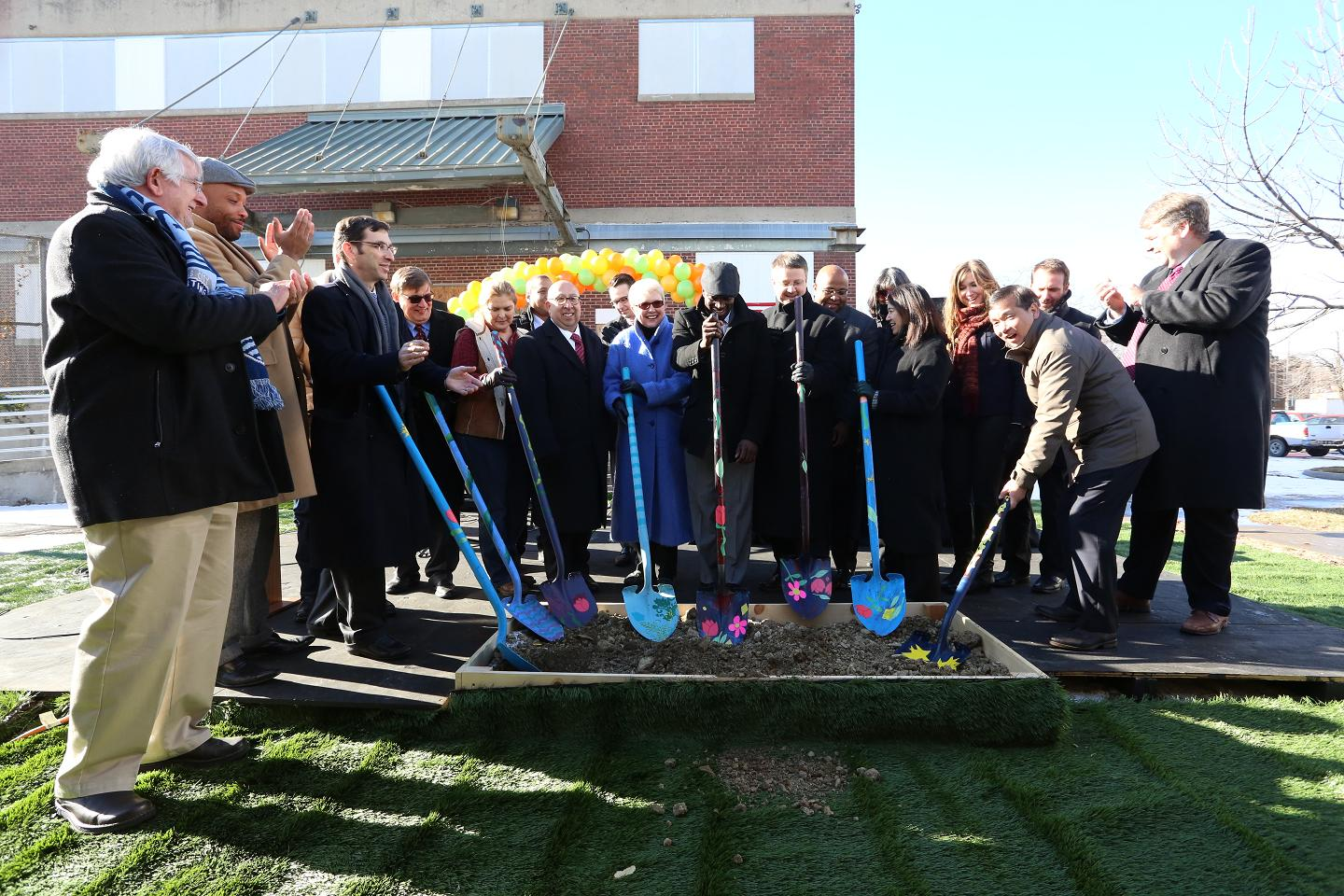 Community members and elected officials joined HREDC to celebrate the groundbreaking.