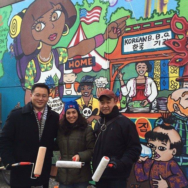 One Flushing Celebrates Completion of Mural with Ribbon-Cutting Ceremony