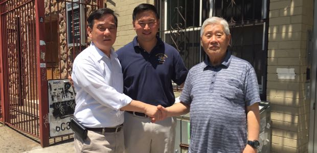 (L-R) AAFE Executive Director Chris Kui, Assemblyman Ron Kim and Han Tak Lee.