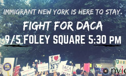 Rally in Support of DACA Tonight (Sept. 5) in New York City