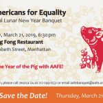 Celebrate the Year of the Pig with AAFE March 21, 2019!