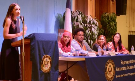 AAFE Participates in Rep. Alexandria Ocasio-Cortez's Immigration Town Hall Meeting