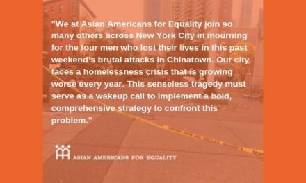 AAFE Statement: Bold Action is Essential After Fatal Attacks of Homeless Men in Chinatown