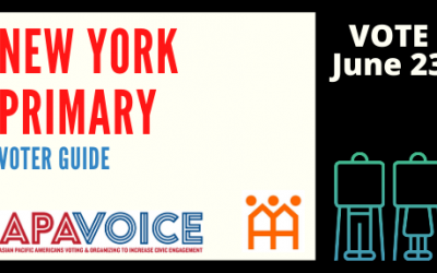 Vote in New York's Primary June. 23 — Read APA VOICE's Candidate Surveys