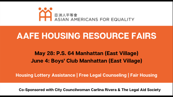 AAFE Hosts Two Upcoming Housing Fairs in the East Village